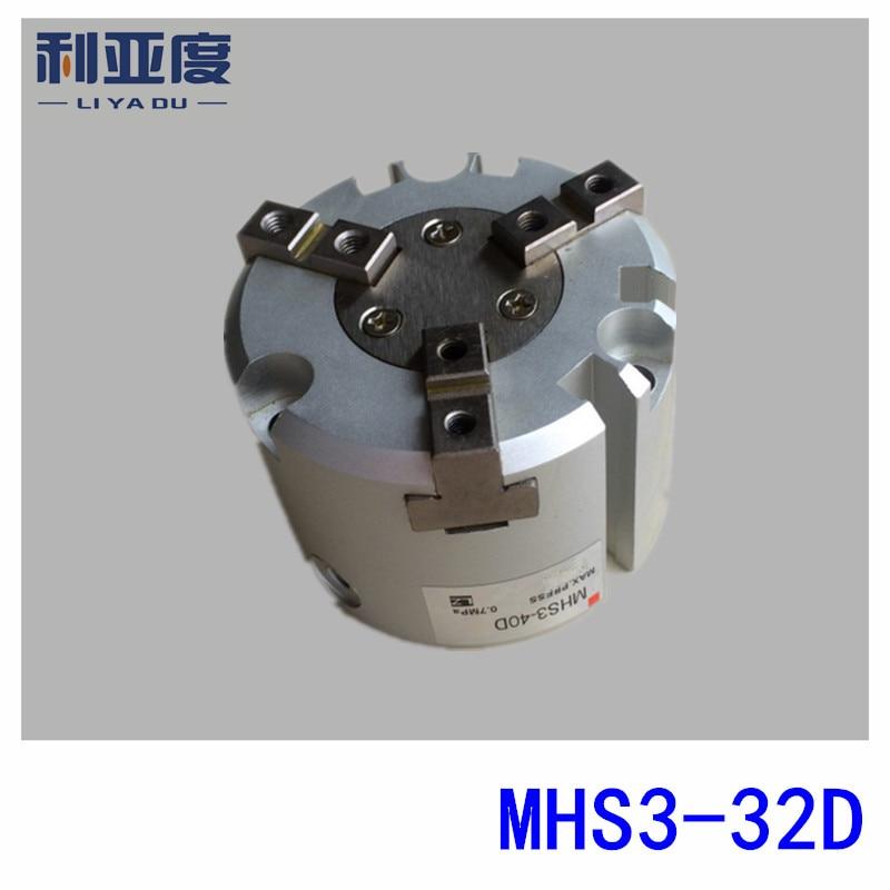 SMC type MHS3-32D cylinder Air Gripper 3-Finger Type MHS series mhs3 32d smc type 3 finger mhs3 series parallel type air gripper penumatic cylinder mhs3 32d
