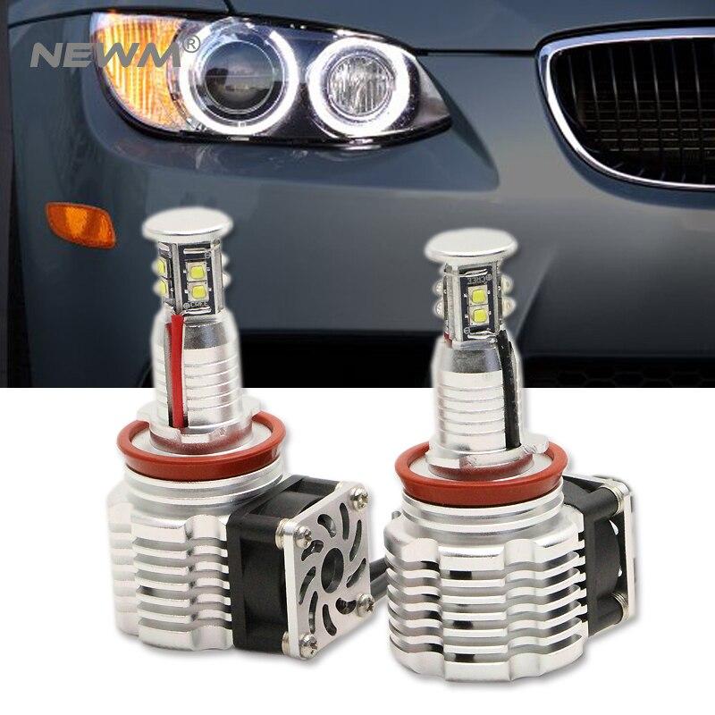 H8 Angel Eyes E92 LED Marker for CREE LED Chips White Red Blue Yellow (1 Set) 2*40W 80W for BMW E90 X5 E71 X6 E82 M3 E60 E70
