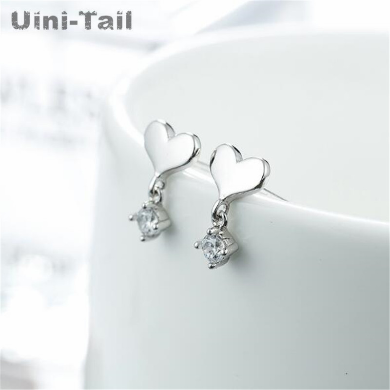 Uini-Tail hot new 925 sterling silver micro inlay  tassel earrings Korean fashion tide flow high quality jewelry GN530