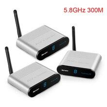 Measy AV530 2 5.8GHz 300M 무선 AV 송신기 TV 오디오 비디오 송신기 2 수신기 주파수 대역 8 그룹 채널