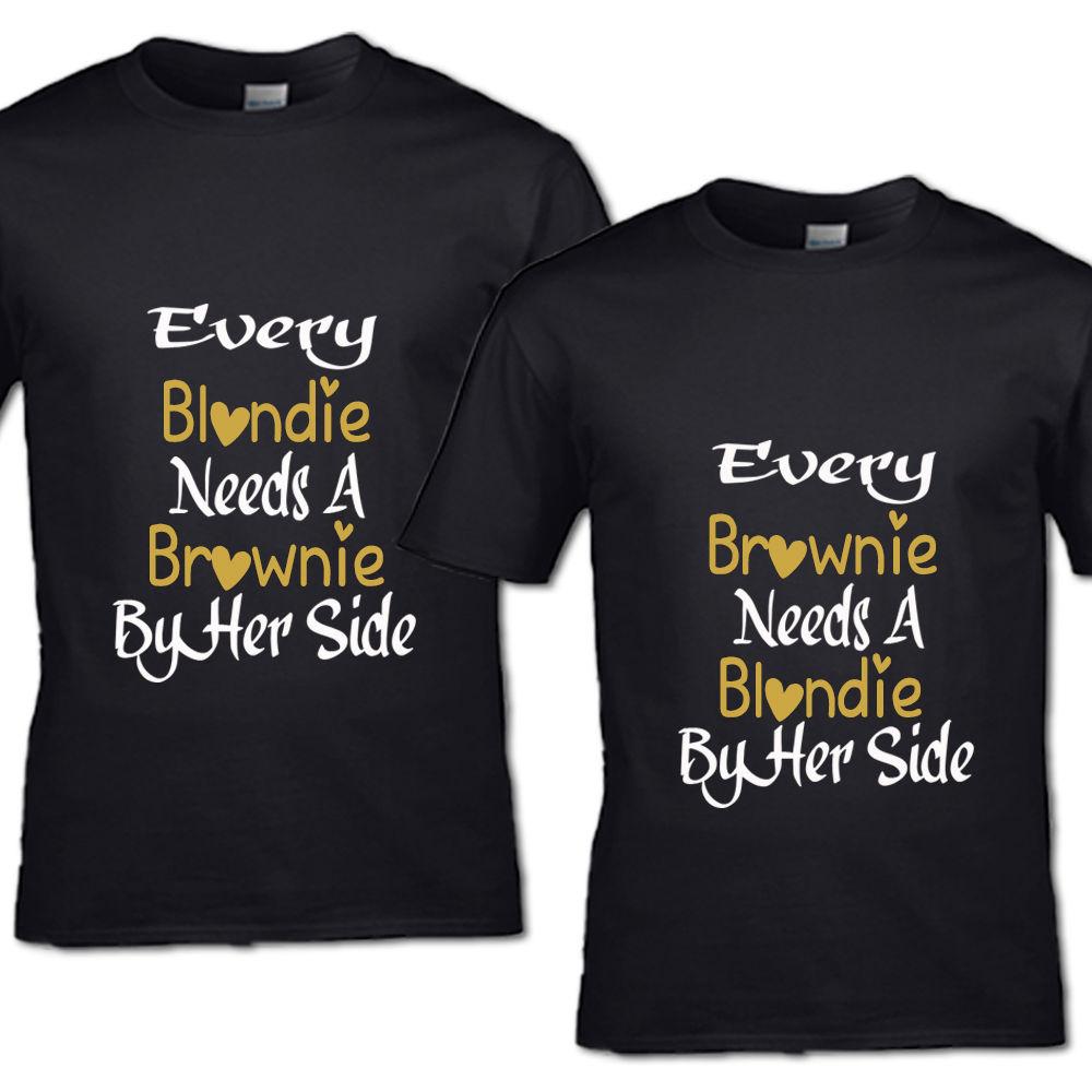 Elke Brownie En Elke Blondie T Shirt Beste Vrienden Meisje
