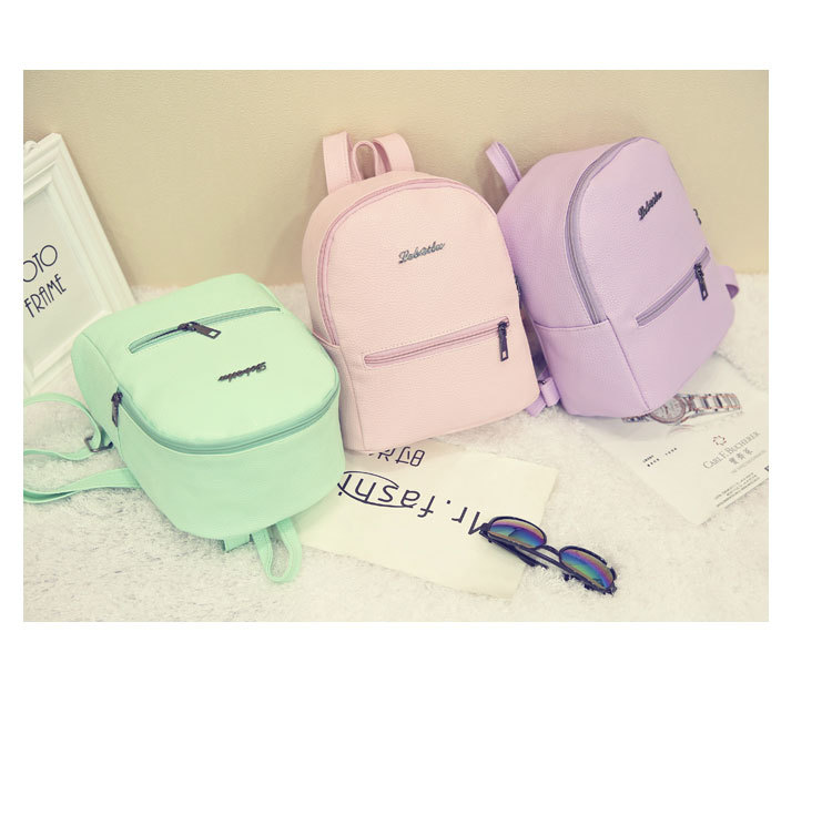 HTB1BLyYCuOSBuNjy0Fdq6zDnVXaN 2019 New Backpack Summer Small Women Backpack Candy Color Student Travel Shoulder Bags Teenager Girls Female Mochila Bagpack