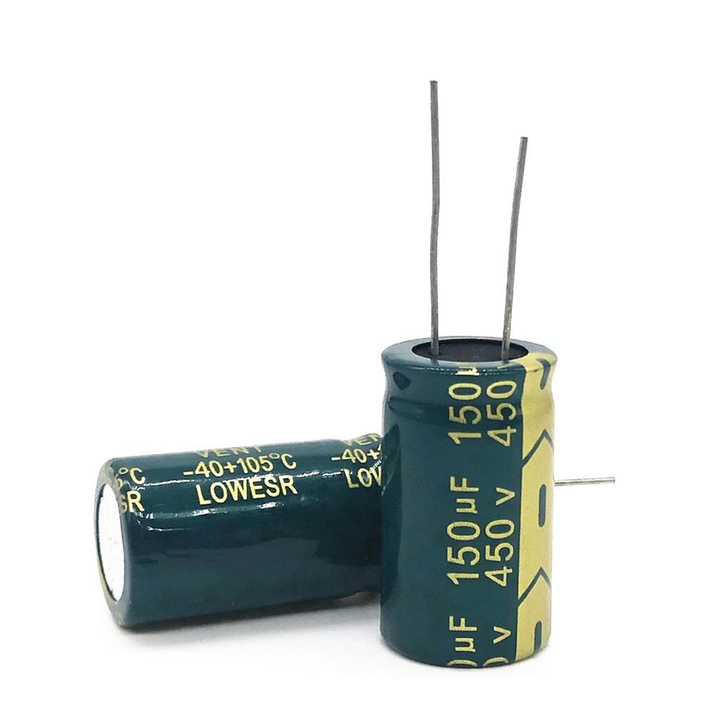 1-2pcs Good quality <font><b>450v</b></font> <font><b>150UF</b></font> high frequency low impedance 18*30 20% RADIAL aluminum electrolytic <font><b>capacitor</b></font> 150000NF 450v150uf image