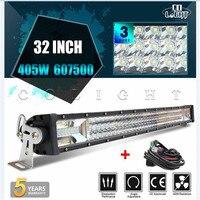 CO LIGHT 3 Row 2232 42 LED Light Bar 270W/405W/648W LED Work Light Bar For Offroad 4x4 4WD ATV SUV Auto Driving Led Bar Light