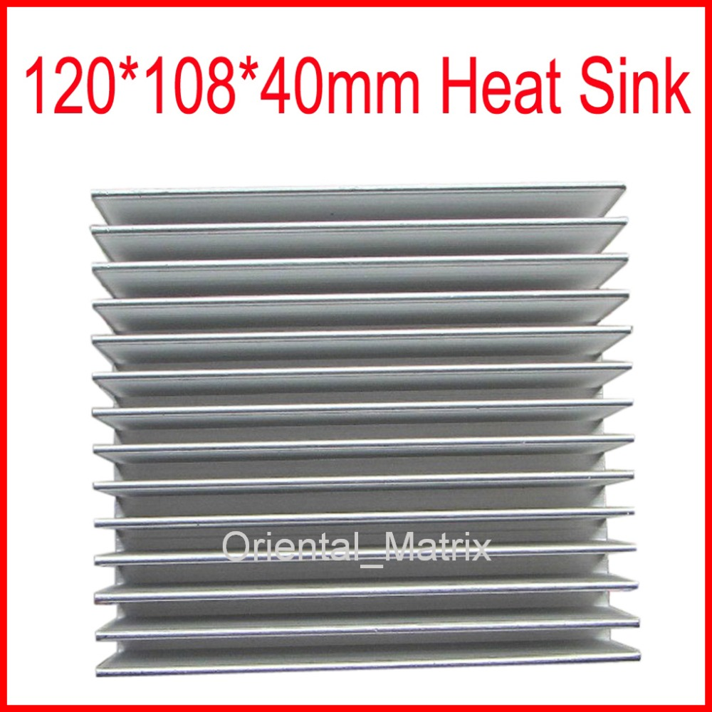 Free Shipping 120*108*40mm HeatSink Heat Sink Radiator Small Radiator - Silver 5pcs lot pure copper broken groove memory mos radiator fin raspberry pi chip notebook radiator 14 14 4 0mm copper heatsink