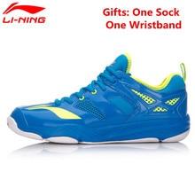 Li-Ning Badminton Shoes for Men Breathable Anti-slip Lining Sports Shoe Li Ning Athletic Sneakers Shock Absorption AYTM019 L666