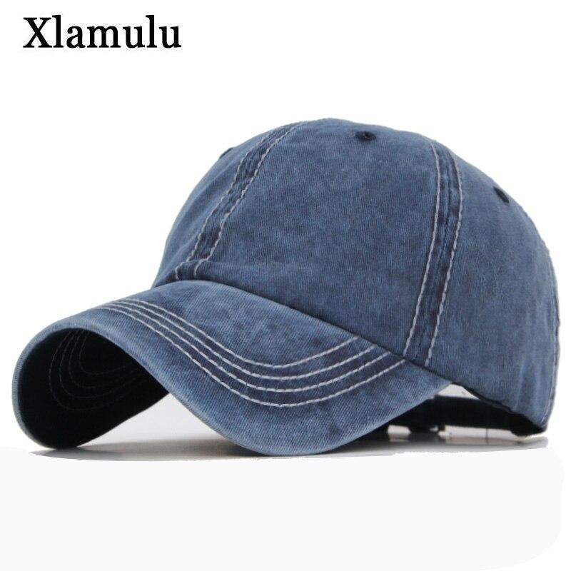 Xlamulu Brand Cotton   Baseball     Cap   Hats For Men Snapback Women Casquette   Caps   Washed Vintage Solid Color Bone Male Hat Gorras   Cap
