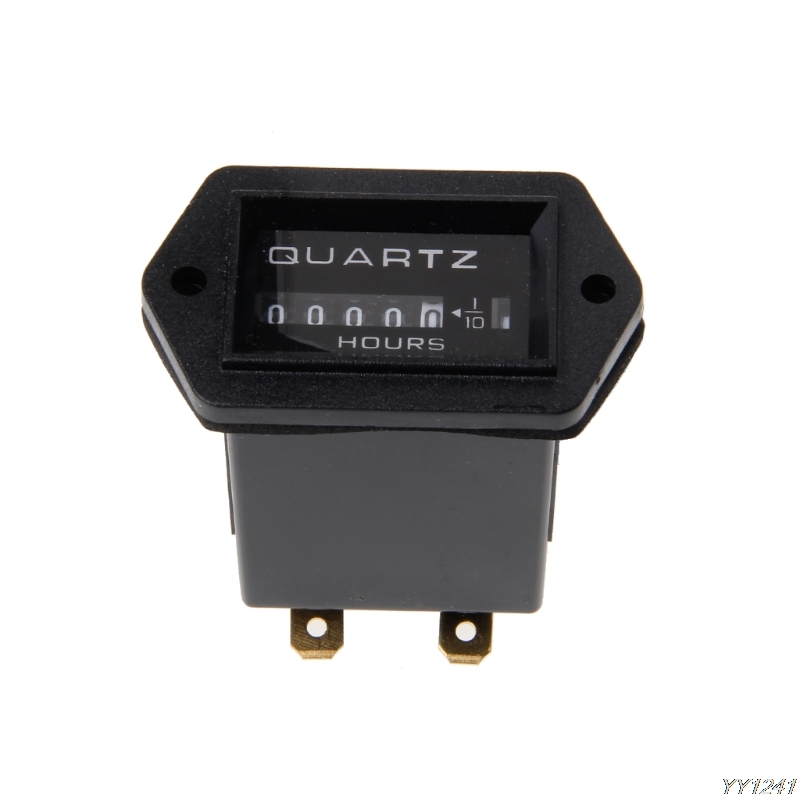 Car DC10V-80V Generator Sealed Hour Meter Counter For Boats Trucks Tractors Cars Automobiles Instruments