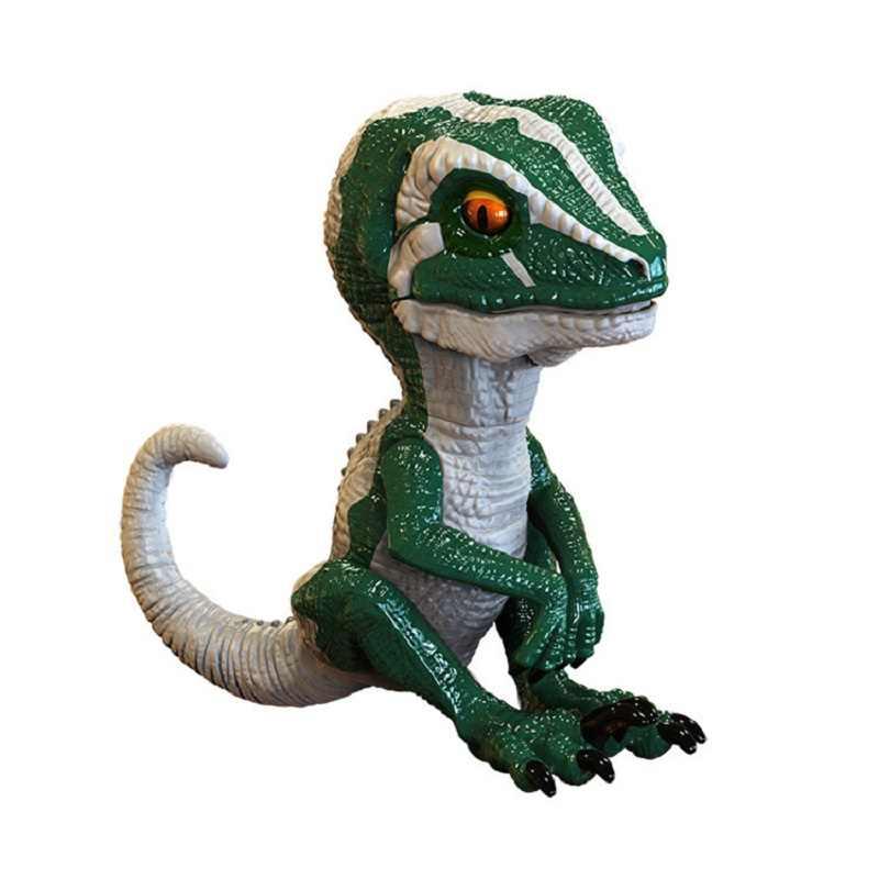 Fingerspitzen Blau Dinosaurier Jurassic Welt Neue Smart kinder Spielzeug Elektronische Interaktive Spitze Sensor Spiel Geschenk Spielzeug Für Jungen