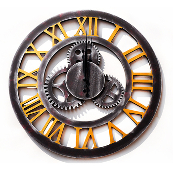 Retro Industrial Wind Mechanical Gear Decorations 60cm Table Gear Clock Wall Gear Decoration Creative Home Decor Wall Ornaments