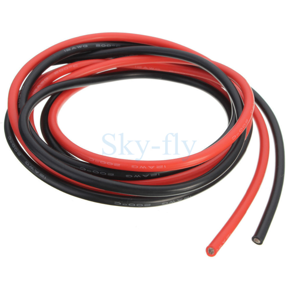 1 Meter Wire Current : Awg meter gauge silicone wire flexible stranded