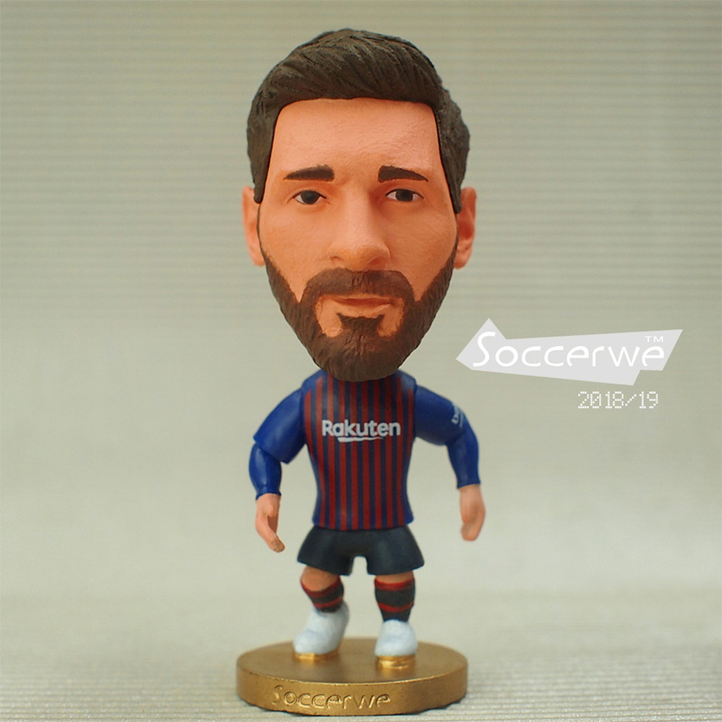 2019 Europe Super Soccer Football Star Player Action Figure Toys Football Doll JUV Cristiano Ronaldo Messi Pogba Mbappe