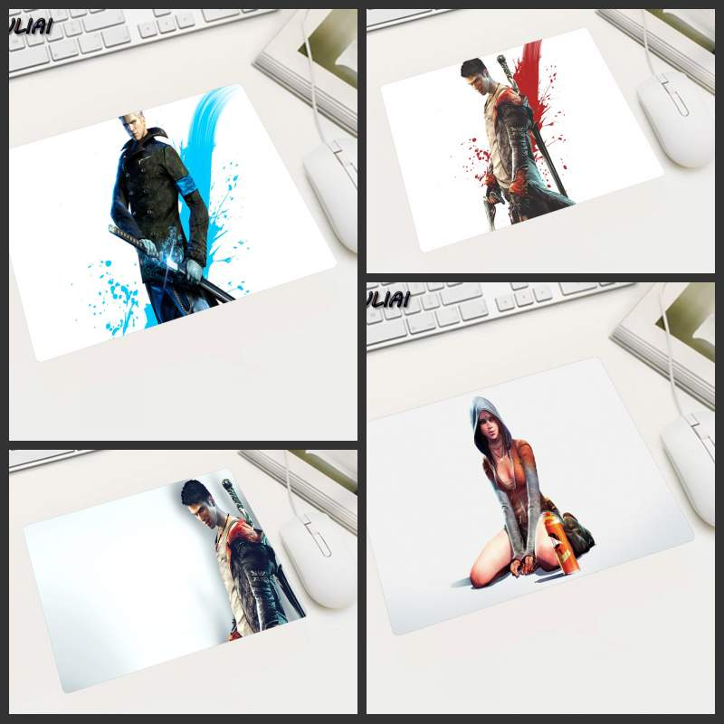 KULIAI Featured Fashion White Bottom Devil May Cry Rubber Slip MousePad Gamer Computer M ...