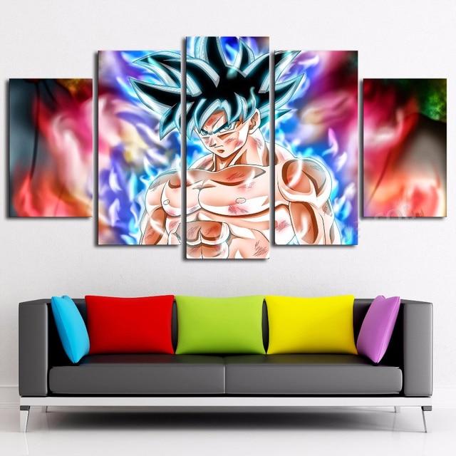 5 Panel Dragon Ball Goku Wall Art