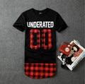 Hip Hop camisa cobre t Underated Bandana Mens roupas de Hip Hop Hip Hop Estendido T Streetwear Roupas Hiphop dos homens homens