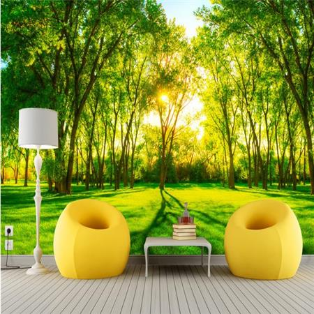 Custom mural  3D forest wallpaper restaurant hotel bar coffee house sofa TV background wall bedroom living room wallpaper mural 3d wallpaper custom photo hd mural flowers deer forest tv sofa bedroom ktv hotel living room children room