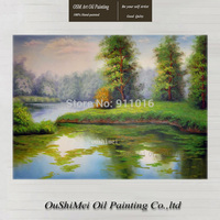 High Quality Handmade Spring Landscape Paintings Home Decor Canvas Scenery Painting Hang Paintings Decor Big Size Oil Painting
