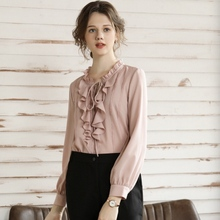 female Blouses Shirts Large size shirt autumn and winter new fat sister trendy foreign