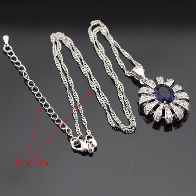 Blue Sapphire Jewelry Set