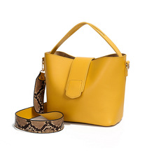 Bucket-Bag Shoulder-Bag-Handbag Strap Crossbody-Bag Large-Capacity Designer Wide-Color