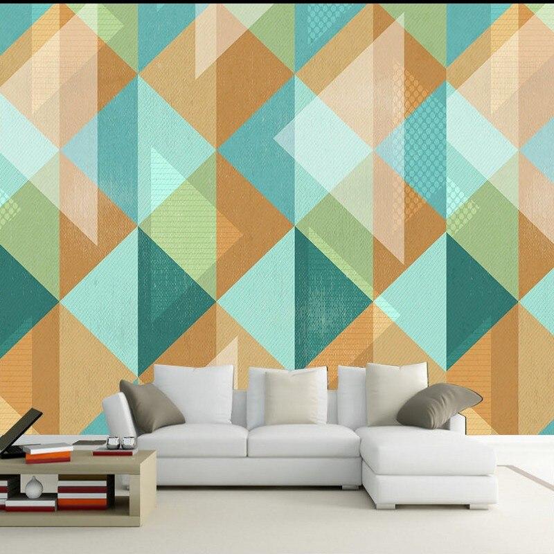 Custom 3d Wallpaper Custom Modern Geometric Shapes