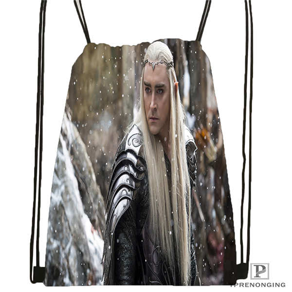 Custom The-Hobbit-Thranduil-and-Galadriel  Drawstring Backpack Bag Cute Daypack Kids Satchel (Black Back) 31x40cm#180611-01-40