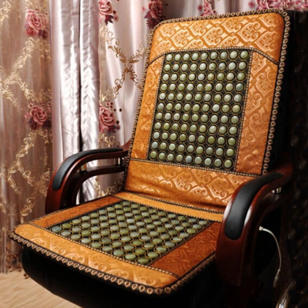 2016 Hottest Infrared Therapy Heating Jade Heating Seat Cushion Best Selling Massage Cushion For Sale Free Shipping newest drivers car massage cushion seat jade heating kneading massage cushion free shipping