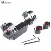 Mizugiwa Een Stuk 25.4mm/30mm Luchtbuks Mount Ring w/Stop Pin Adapter 20mm Picatinny Rail zwaluwstaart Weaver Pistool Luchtdruk Rifle