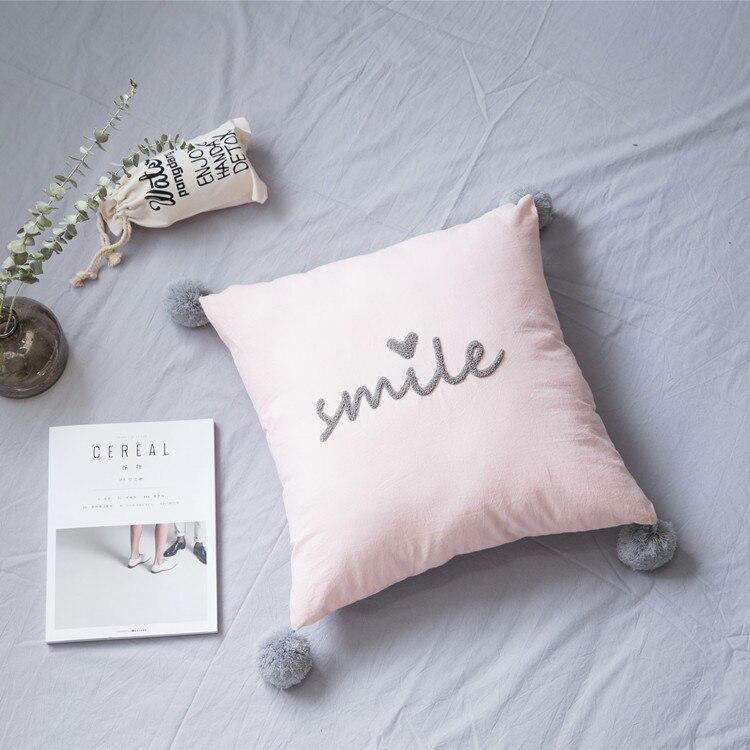 Semplice E Generoso Parola Inglese Smile Linotessuto Di Cotone