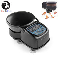 Auto Timer Setting Fish Feeder, Mini Fish Tank Programmable Timer with LCD Display &Suction Cups For Weekend / Holiday