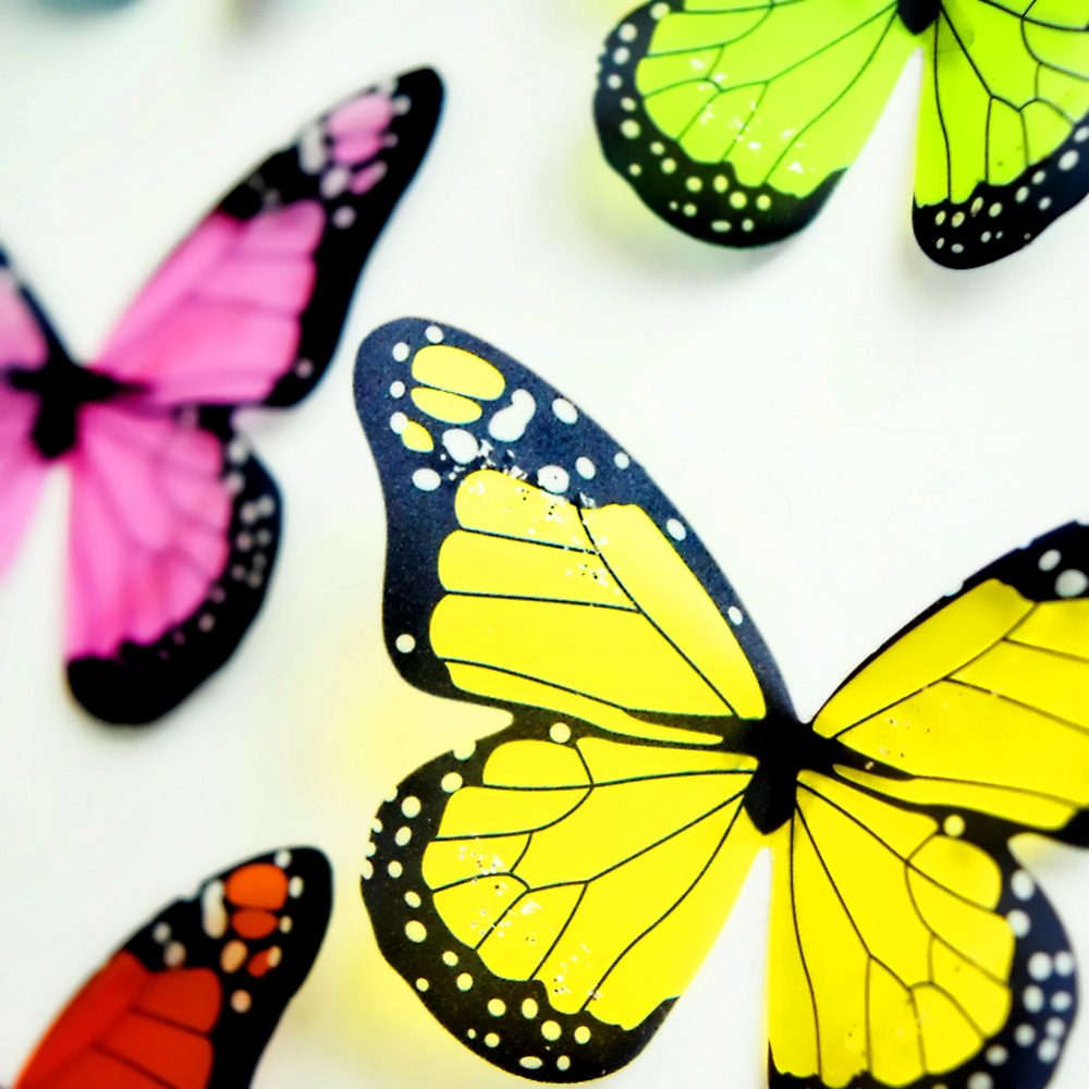 crystal 3d butterflies 18pcs diy home decor wall stickers for kids ...