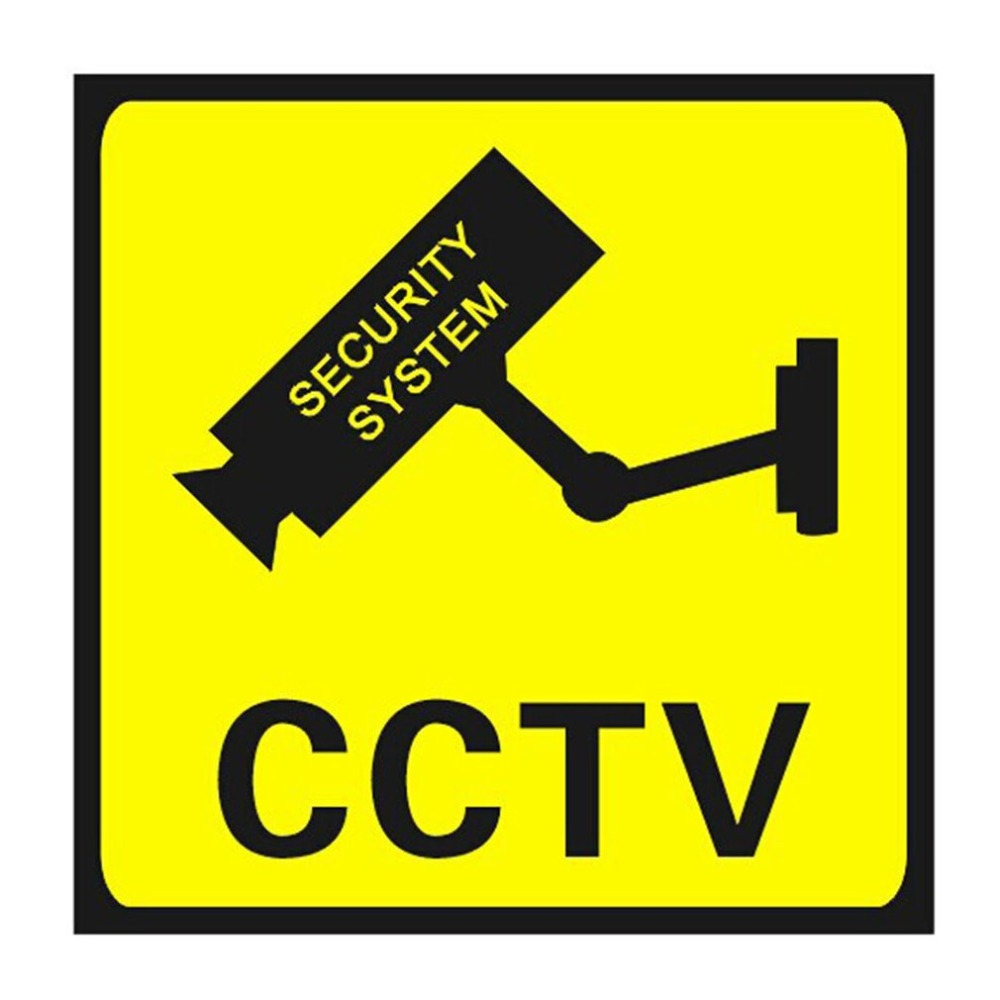Square CCTV Surveillance Security 24 Hour Monitor Camera Warning Stickers Sign Alert Wall Sticker Waterproof Lables
