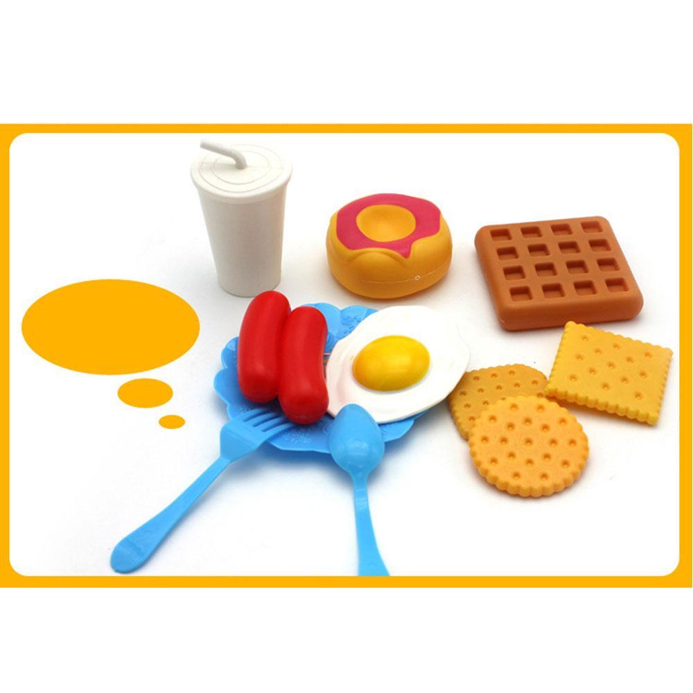 35PCS Kitchen Pretend Toys Fun Simulation Bread Hamburgers Food Plastic Toy Pretend Food Toys Diversity Food Toys For Children