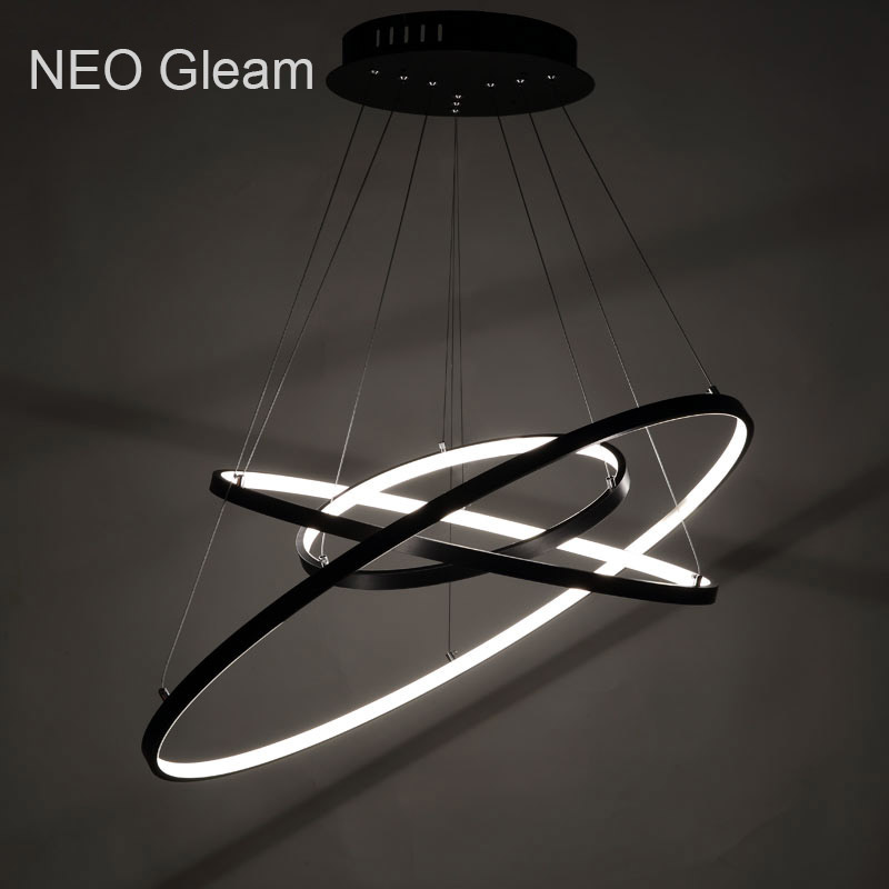 Acrylic Ring circles modern led pendant lights for dining living room acrylic cerchio anello lampadario hanging pendant lamp new creative modern led pendant lights wave hanging lamp for dining room living room acrylic pendant lamp 85 265v lampadario