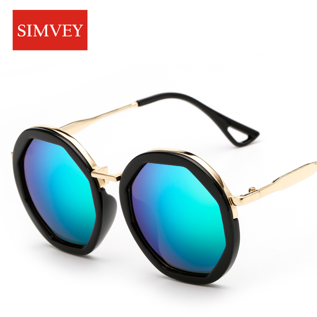 Simvey Fashion Women Big Round Sunglasses Vintage Retro Luxury Brand ...