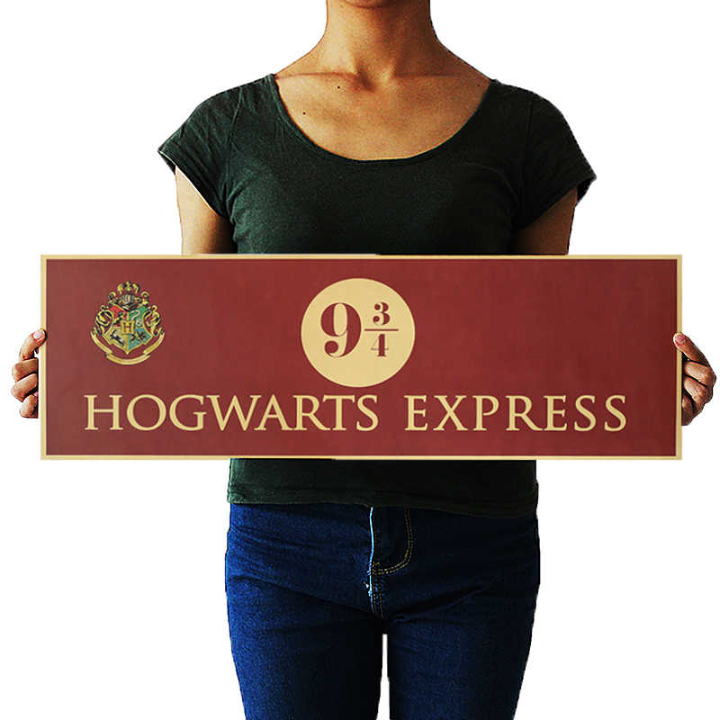 OLOMM harry styles wall sticker wall decor harry potter decoracion Potter Movie Vintage Paper Decoration Poster Wall Stickers