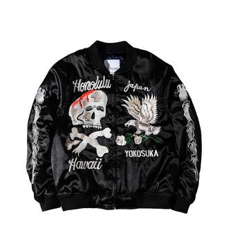 Embroidery Bomber Jacket Men Streetwear Baseball Coat Spring Hip Hop Windbreaker Mens Jackets And Coats