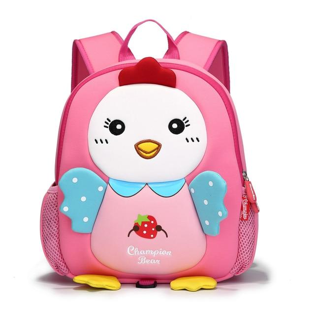 Newest Baby Toddler Anti Lost Backpack Kids Boys Neoprene Cute En Character Preschool Bag Infant