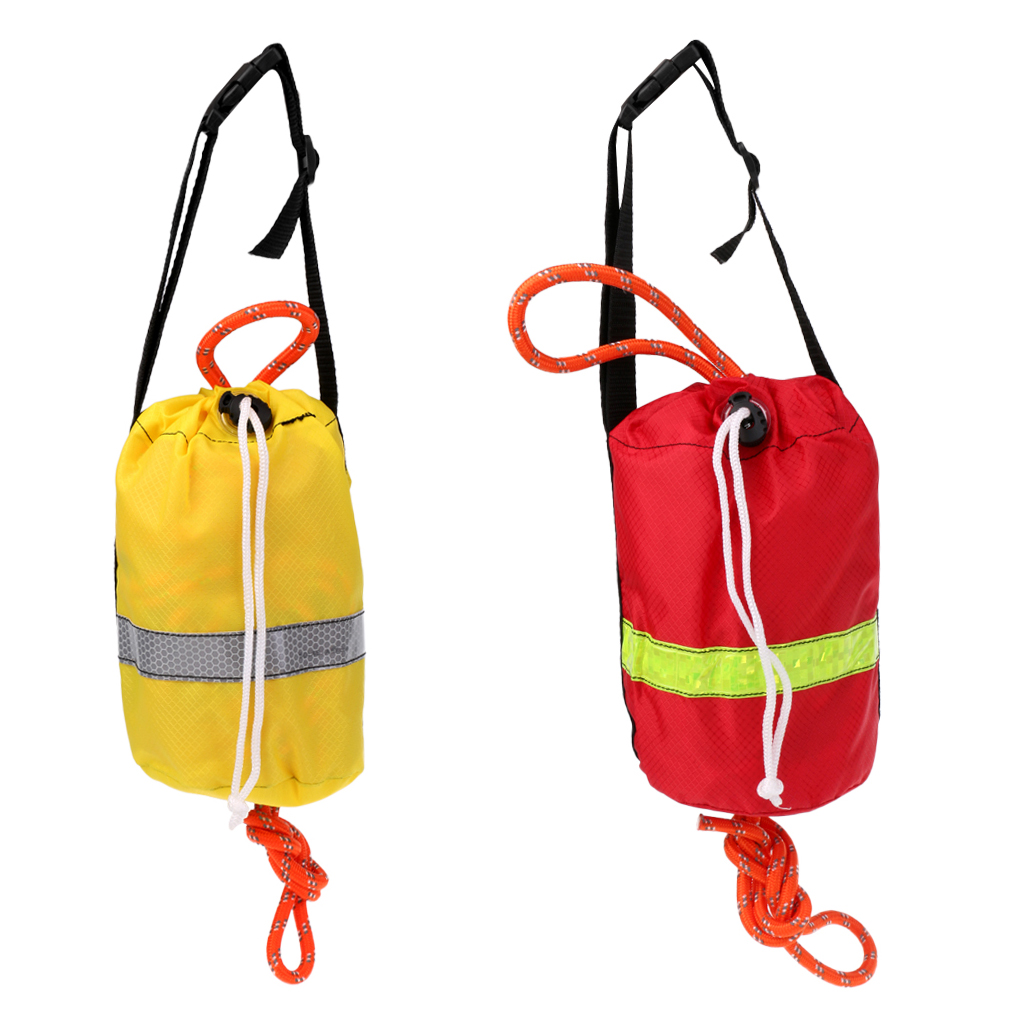 16m/21m Kayak Reflective Throwline Water Rescue Safe Throw Bag Floating Rope Rescue Throw Bag With Rope