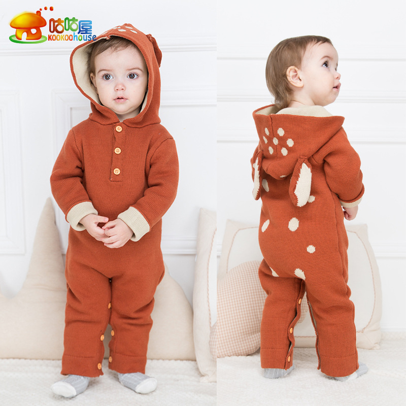 Winter Cartoon Baby Rompers Warm Hooded Baby Romper Autumn Girl Body Suits Long Sleeve Children Clothes Spring Infant Clothing warm thicken baby rompers winter long sleeve organic cotton autumn