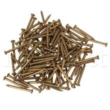 100pcs Furniture Round Head Archaize Pure Copper Nail Brass 18 x 2.8mm