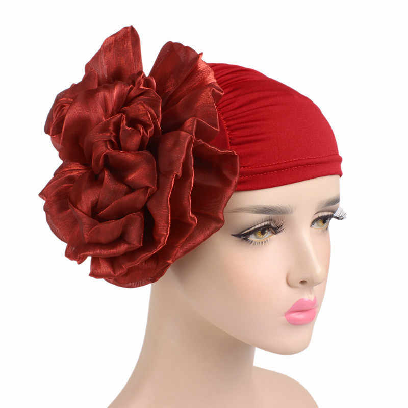 Новые женские туфли с большим цветком и аксессуары для волос в виде тюрбана Набор резинок для волос резинки шапочка шапка Хемо женские мусульманский шарф Кепки для выпадения волос