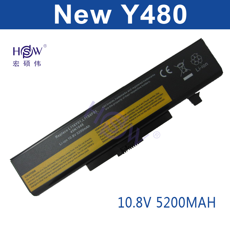 HSW Laptop battery for For Lenovo Series G480 G485 G585 G580 Y480 Y480N IY485 Y485N Y480P Y580 Y580N Y485P Z380 Z480 Y580P Z580 new in stock ve j62 iy vi j62 iy