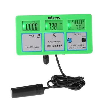 KKmoon Tester 4 in 1 pH Meter Multi-parameter Digital Multi-function Water Quality multi function green