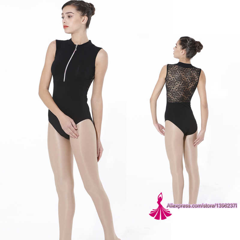 Gymnastics Leotard Adult 2020 New Design High Quality Zipper Sexy Lace Ballet Dress Ballet Leotards For Women Purple Leotard