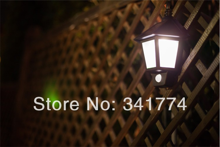 LED Luz Solar Panel Motion Sensor Wall lamp Scrubba Holiday Night Lights for Christmas New Year ...