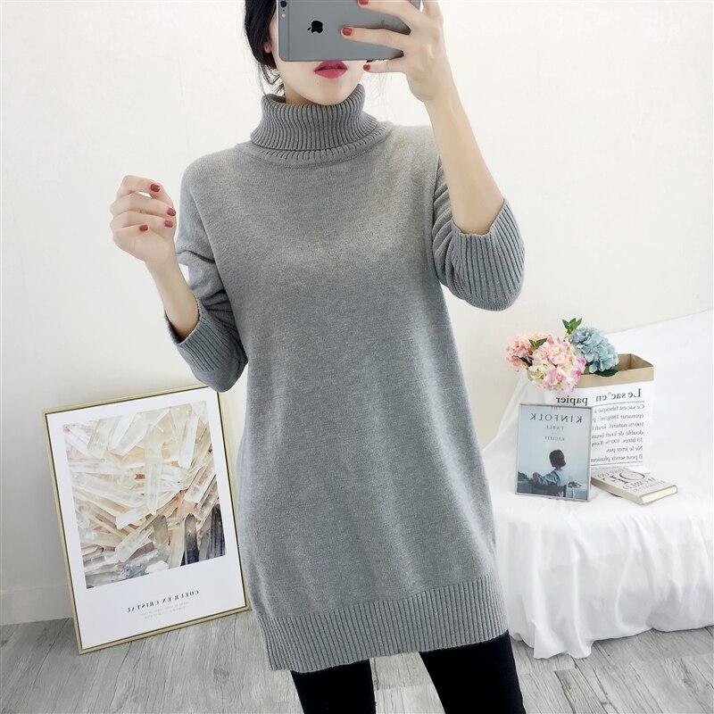 Autumn Winter Sweater Women Plus Size Long Turtleneck Pullover Women Sweaters Knitted Tops Femme