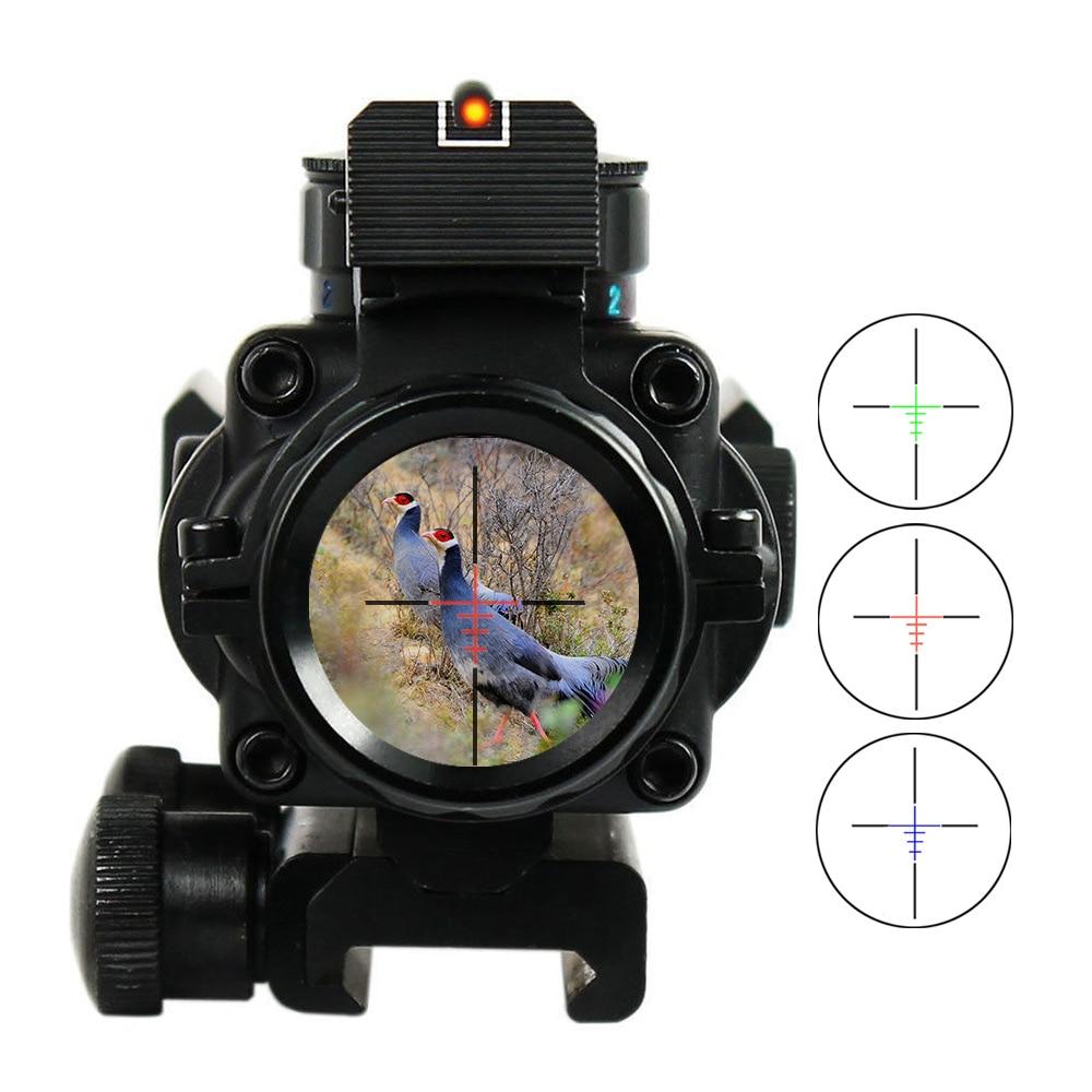 Lunette de visée 4x32 Acog 20mm en queue d'aronde optique réflexe portée visée tactique pour fusil de chasse fusil Airsoft Sniper loupe