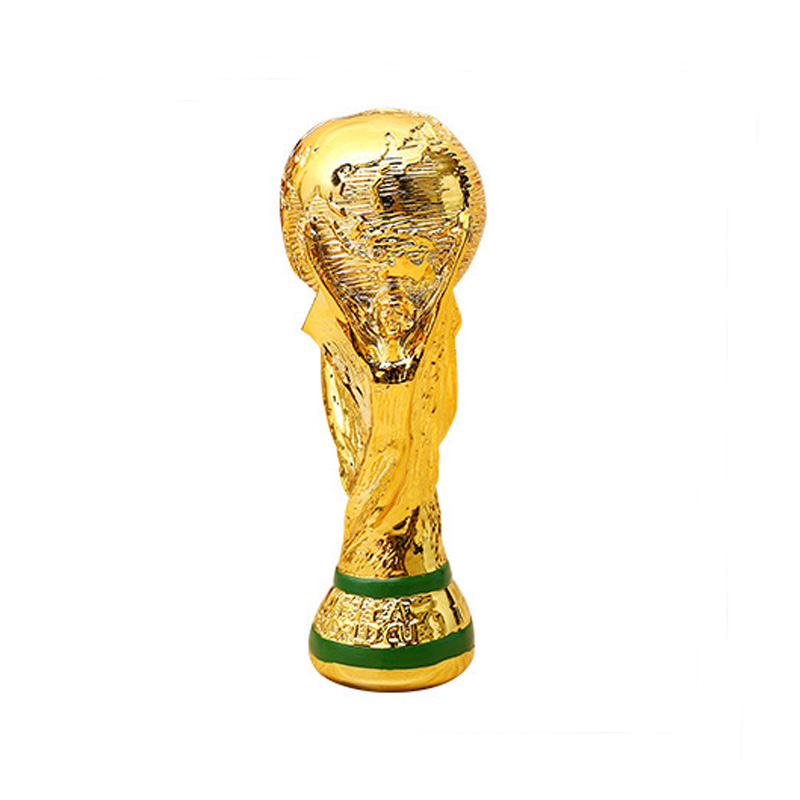 Golden Color Resin World Cup Football Champion Souvenir Mascot Toy