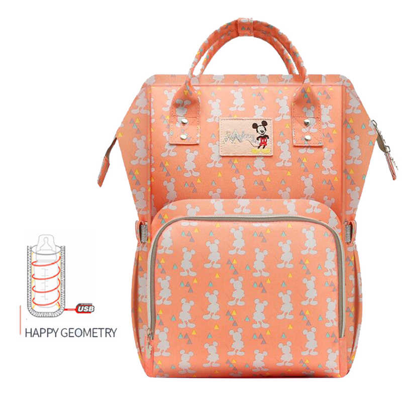 Disney 2018 New Style Waterproof Diaper Bags Large Capacity USB Oxford  Cloth Maternity Nappy Bag Baby 799e264f2828